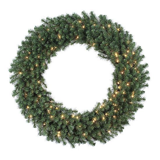 "Vickerman 48"" Douglas Fir Christmas Wreath with 200 Clear Lights"