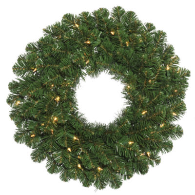 "Vickerman 48"" Oregon Fir Christmas Wreath with 150Clear Lights"""