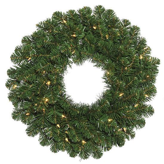 "Vickerman 48"" Oregon Fir Christmas Wreath with 150Clear Lights"""