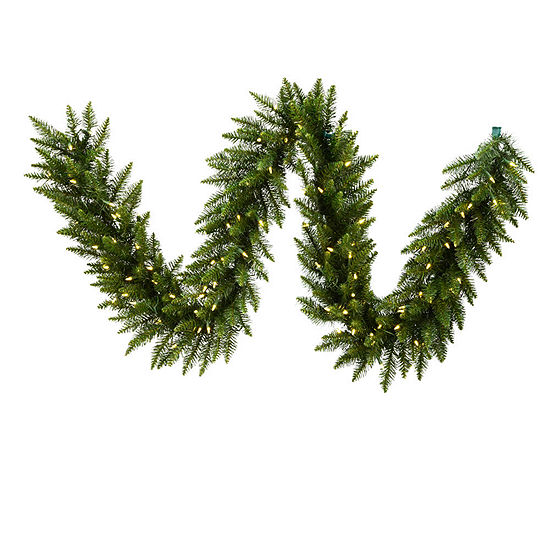 vickerman 50 camdon fir christmas garland with 500 warm white led lights