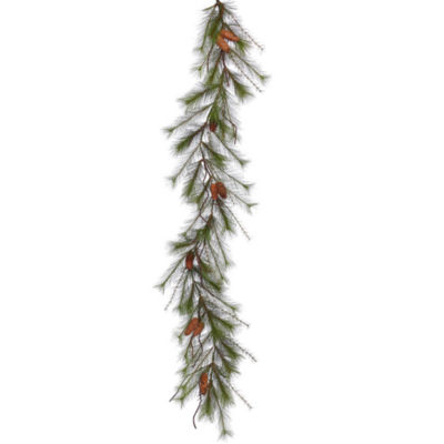 Vickerman 6' Big Fork Pine Christmas Garland Unlit