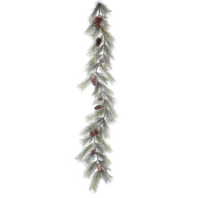 Vickerman 6' Frosted Bellevue Pine Christmas Garland Unlit