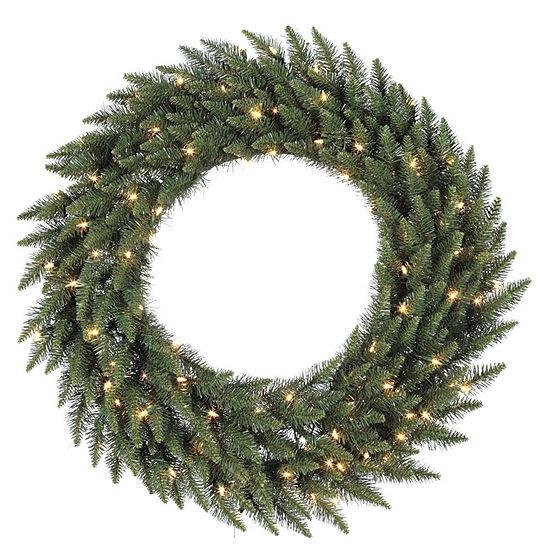 "Vickerman 60"" Camdon Fir Christmas Wreath with 400 Warm White LED Lights"