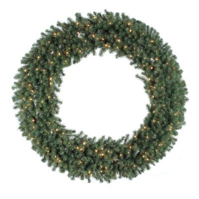 "Vickerman 60"" Douglas Fir Christmas Wreath with 200 Clear Lights"""