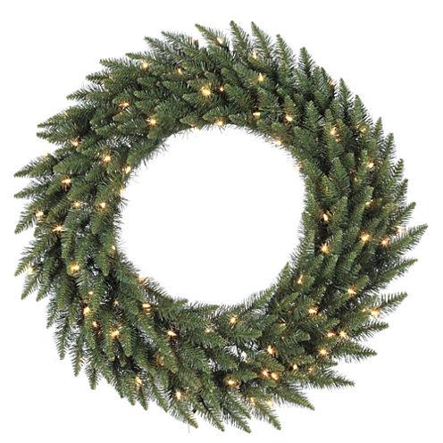 "Vickerman 72"" Camdon Fir Christmas Wreath with 400Clear Lights"""