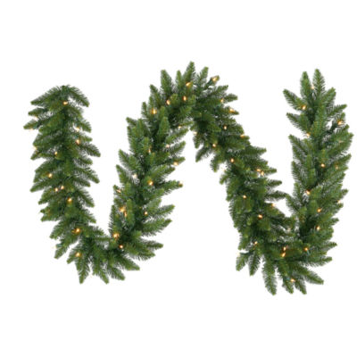 Vickerman 9' Camdon Fir Christmas Garland with 100Warm White LED Lights
