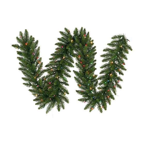 Vickerman 9' Camdon Fir Christmas Garland with 50Multi-Colored LED Lights