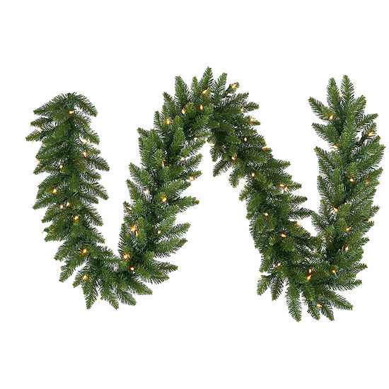Vickerman 9' Camdon Fir Christmas Garland with 50Warm White LED Lights