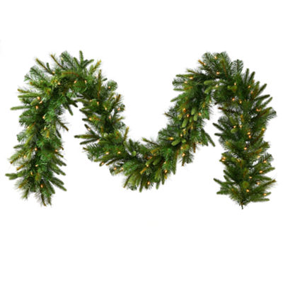 Vickerman 9' Cashmere Christmas Garland with 100 Clear Lights