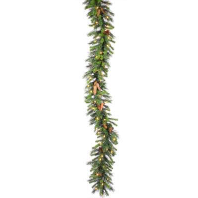 Vickerman 9' Cheyenne Christmas Garland with 50 Clear Lights