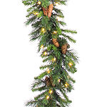 Vickerman 9' Cheyenne Christmas Garland with 50 Clear Lights