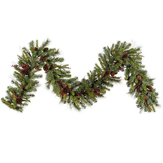 Vickerman 9' Cibola Mixed Berry Christmas GarlandUnlit
