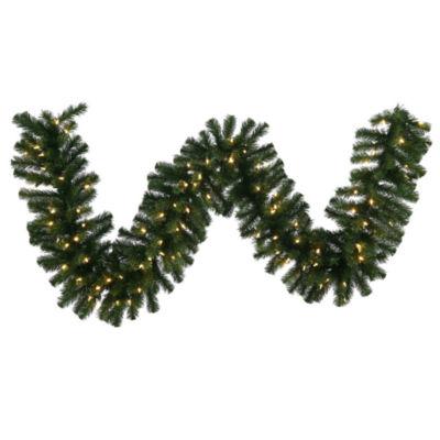 Vickerman 9' Douglas Fir Christmas Garland with 50 Warm White LED Lights