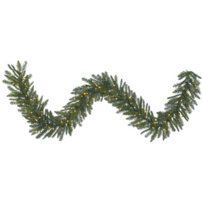 Vickerman 9' Durango Spruce Christmas Garland with100 Warm White LED Lights