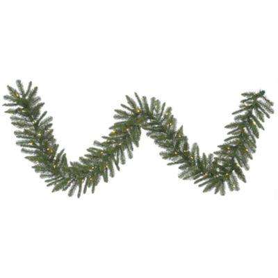 Vickerman 9' Durango Spruce Christmas Garland with50 Warm White LED Lights