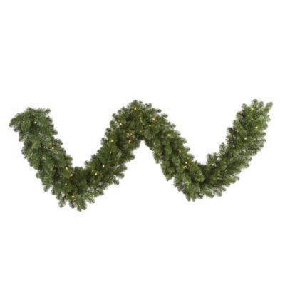Vickerman 9' Grand Teton Christmas Garland with 100 Clear Lights