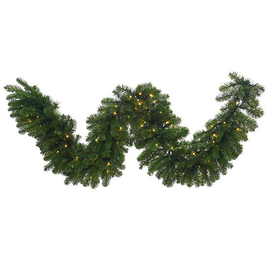 vickerman 9 grand teton christmas garland with 100 warm white led lights