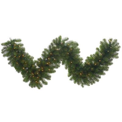 Vickerman 9' Grand Teton Christmas Garland with 150 Clear Lights