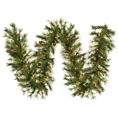 Vickerman 9' Mixed Country Pine Christmas Garlandwith Dura-Lit UL 100 Clear Lights