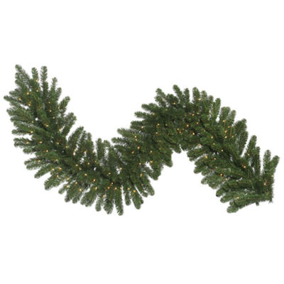 Vickerman 9' Oregon Fir Christmas Garland with 100Clear Lights