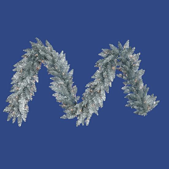 Vickerman 9' Silver Christmas Garland Unlit