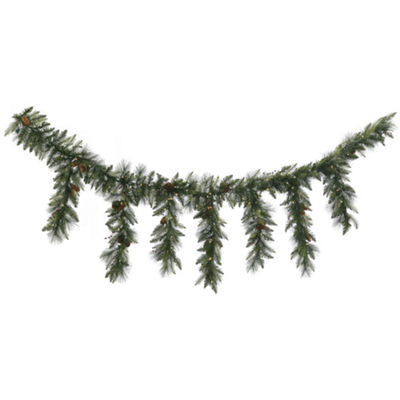 Vickerman 9' Vallejo Mixed Pine and Berry Icicle Garland with 150 Warm White LED Lights