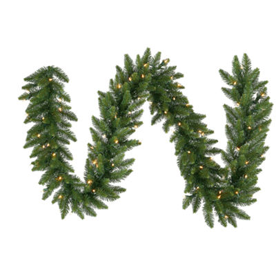 "Vickerman 50"" Camdon Fir Christmas Garland with 550 Multi-Colored LED Lights"