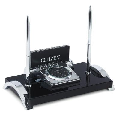 Citizen Black Table Clock-Cc1002