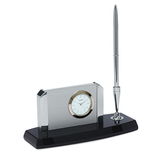 Citizen White Table Clock-Cc1004