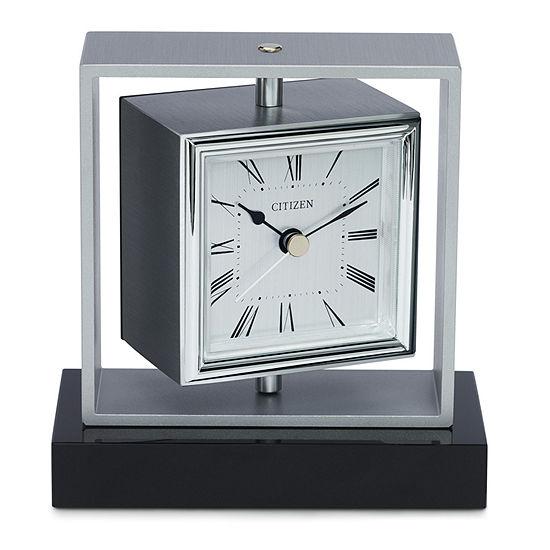 Citizen White Table Clock-Cc1007
