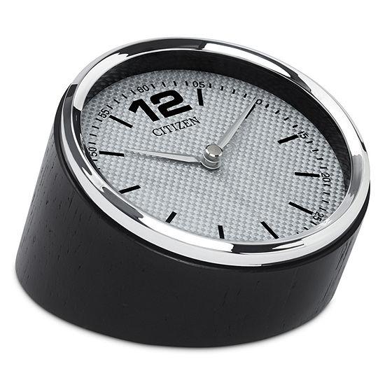 Citizen Silver Tone Table Clock Cc1013