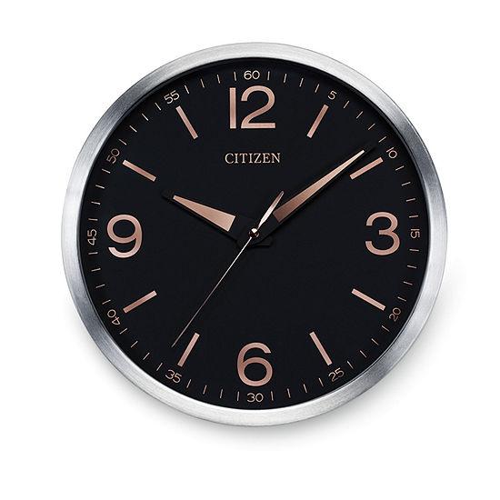 Citizen Black Wall Clock-Cc2002