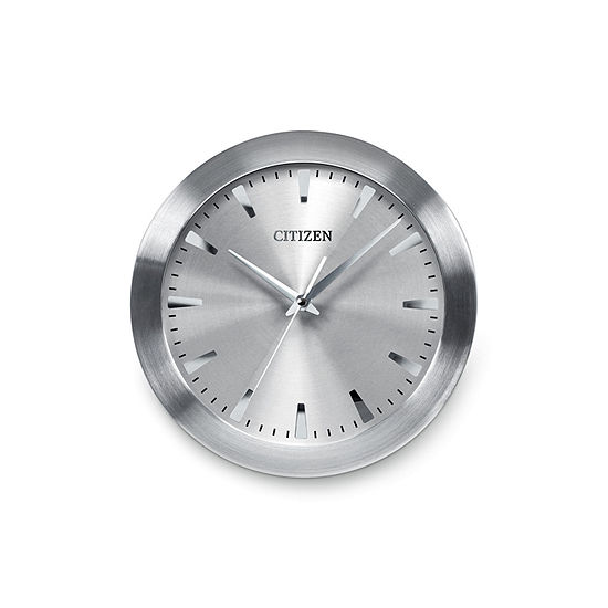 Citizen Silver Tone Wall Clock-Cc2003
