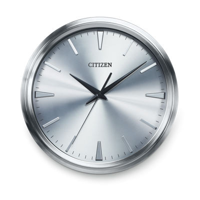 Citizen Silver Tone Wall Clock-Cc2004