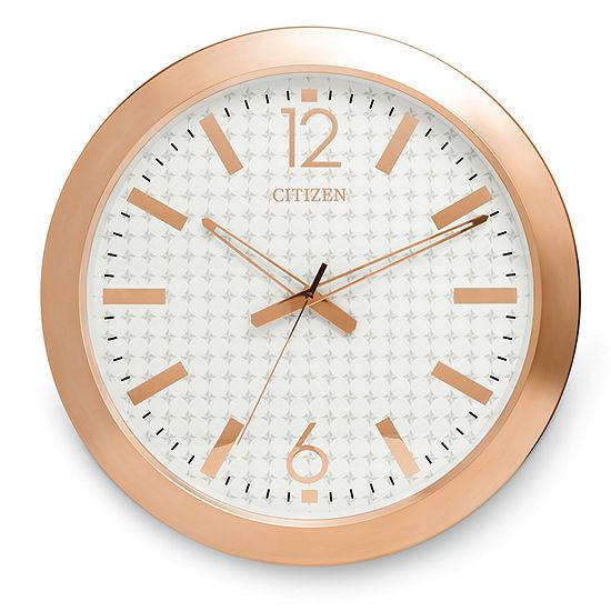 Citizen White Wall Clock-Cc2007