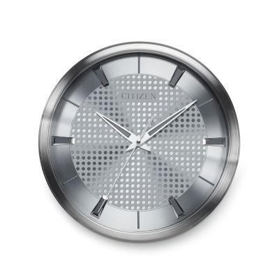 Citizen Silver Tone Wall Clock-Cc2008