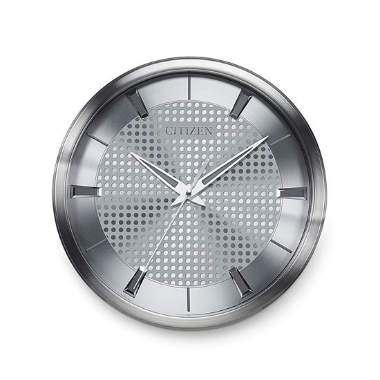 Citizen Silver Tone Wall Clock-Cc2008