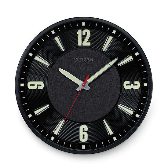 Citizen Black Wall Clock-Cc2012
