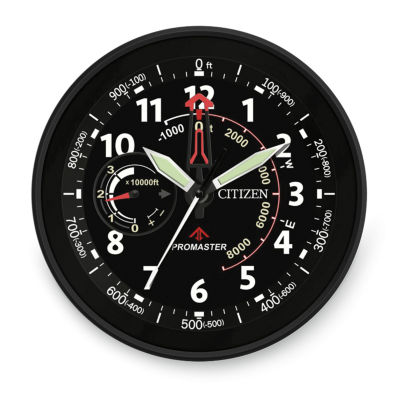 Citizen Black Wall Clock-Cc2014
