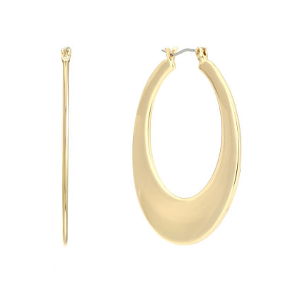Gloria Vanderbilt 1 1/2 Inch Round Hoop Earrings