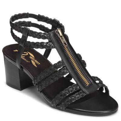 A2 by Aerosoles Womens Mid Range Heeled Sandals