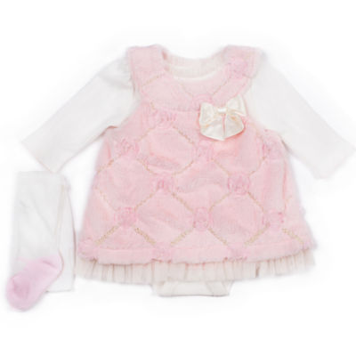 Little Lass 3-pc. Bodysuit Set-Baby Girls