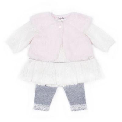 Little Lass 3-pc. Legging Set-Baby Girls