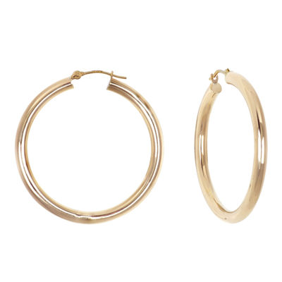 10K Yellow Gold 39mm Hoop Earrings