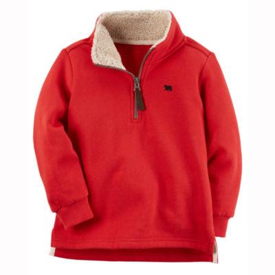 Carter's Quarter-Zip Lightweight Fleece Jacket-Preschool Boys