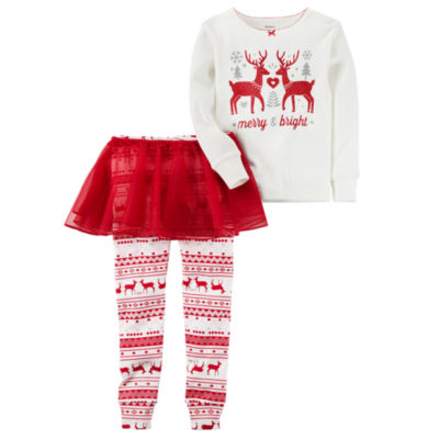 Carter's Christmas 3-pc. Pajama Set Girls