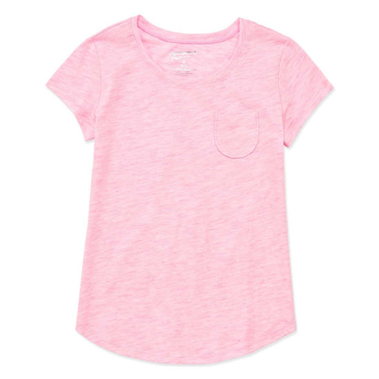Arizona Short Sleeve Solid Fave Tee - Girls 4-16 & Plus