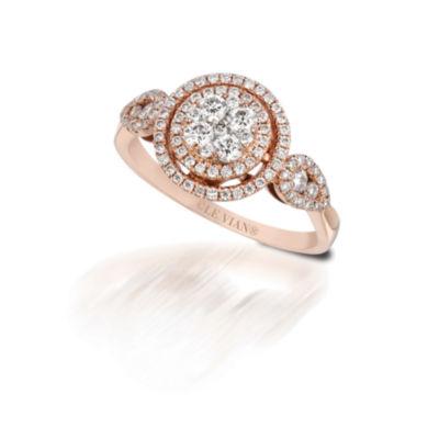 Grand Sample Sale™ by Le Vian®  5/8 CT. T.W. Vanilla Diamonds® 14K Strawberry Gold® Ring