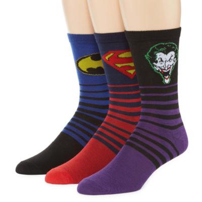 DC Comics 3-pk. Crew Socks