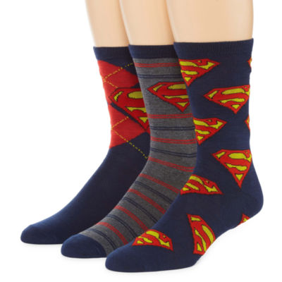 3 Pair DC Comics Crew Socks-Mens
